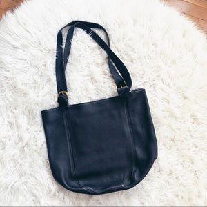 • M.London • Leather Large Black Handbag